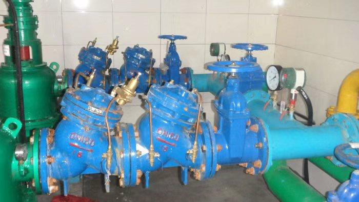 多功能水泵控制阀用户使用现场